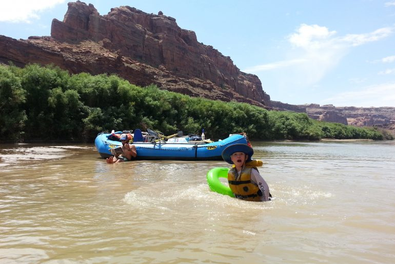 water fun on the Green River